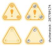 set of four flat simple frames... | Shutterstock .eps vector #287789174