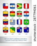 set of south america colorful... | Shutterstock .eps vector #287794061