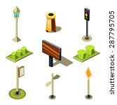 flat 3d isometric high quality... | Shutterstock .eps vector #287795705