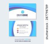 business card design    Shutterstock .eps vector #287798789