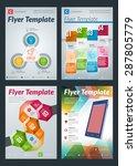 set of abstract vector business ... | Shutterstock .eps vector #287805779