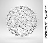 wire frame polygonal element.... | Shutterstock .eps vector #287805791