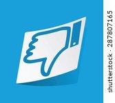 sticker with dislike symbol ...