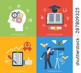 flat style web banner modern... | Shutterstock .eps vector #287809325