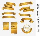 collection of golden premium...   Shutterstock .eps vector #287810099