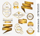 collection of golden premium... | Shutterstock .eps vector #287810105