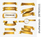 collection of golden premium... | Shutterstock .eps vector #287810111