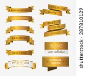collection of golden premium... | Shutterstock .eps vector #287810129