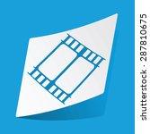 sticker with film strip icon ...