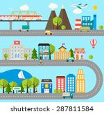 city infographics design... | Shutterstock .eps vector #287811584