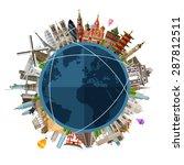 travel  journey vector logo...   Shutterstock .eps vector #287812511