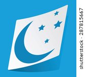 sticker with image of crescent...