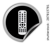 remote control icon   round... | Shutterstock .eps vector #287815781