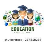 education  schooling vector... | Shutterstock .eps vector #287818289