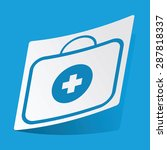 sticker with first aid kit icon ...