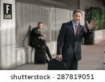 traveling businessman with... | Shutterstock . vector #287819051