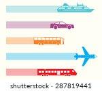 different kinds of transport... | Shutterstock .eps vector #287819441