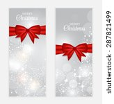 christmas gift card set ... | Shutterstock . vector #287821499