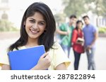 close up portrait of smiling... | Shutterstock . vector #287822894