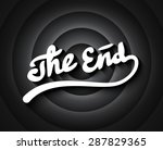 old movie ending screen with... | Shutterstock .eps vector #287829365