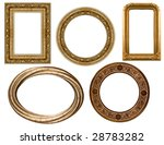 collection picture gold frame... | Shutterstock . vector #28783282
