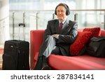 older businessman relaxing at... | Shutterstock . vector #287834141