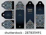 ornate cards in oriental style. ... | Shutterstock .eps vector #287835491