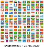 flag of world. vector icons | Shutterstock .eps vector #287836031