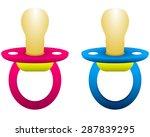 dummy for girls and boys | Shutterstock .eps vector #287839295