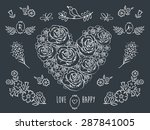 the set of decorative floral... | Shutterstock .eps vector #287841005