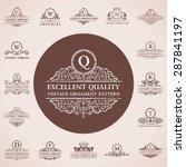 calligraphic logos set. vintage ...   Shutterstock .eps vector #287841197