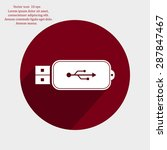 vector usb flash drive icon   Shutterstock .eps vector #287847467