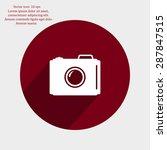 photo camera icon. vector eps 10 | Shutterstock .eps vector #287847515