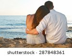 love  sunset  summer. | Shutterstock . vector #287848361