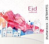 eid mubarak   traditional... | Shutterstock .eps vector #287849951
