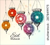 eid mubarak background. eid... | Shutterstock .eps vector #287849975