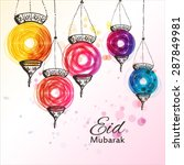 eid mubarak background. eid... | Shutterstock .eps vector #287849981