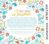 bright summer background.... | Shutterstock .eps vector #287851559