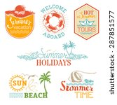 vector set of summer and... | Shutterstock .eps vector #287851577