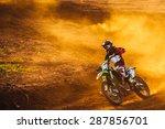 motocross pilot in a turn... | Shutterstock . vector #287856701