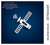 satellite sign icon  vector... | Shutterstock .eps vector #287866685