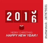2016 new year card odometer... | Shutterstock .eps vector #287875031