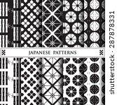 japanese vector pattern pattern ... | Shutterstock .eps vector #287878331