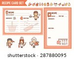cooking and kitchen recipe card ...   Shutterstock .eps vector #287880095