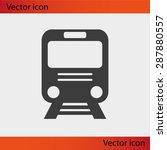 train vector icon   Shutterstock .eps vector #287880557