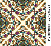 seamless pattern ethnic style.... | Shutterstock .eps vector #287886815