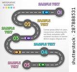 road infographic travel... | Shutterstock .eps vector #287888531