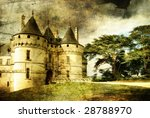 Old medieval castle - artistic picture - stock photo