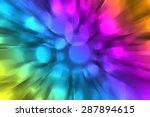 Rainbow  Zooming Colorful Blu...