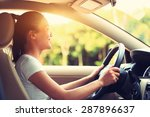 young asian woman driver... | Shutterstock . vector #287896637